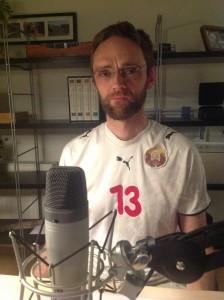 Jesper Gormsen i U21 trøje fra Hviderusland