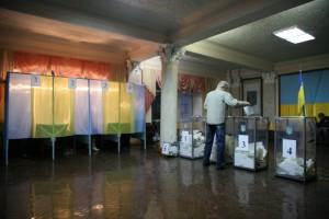 Parlamentsvalg den 26. oktober 2014 på Skole nr. 3 i Ternopil, Ukraine