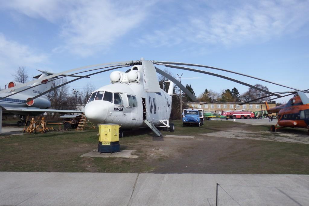 Den gigantiske Mi-26 på Kiev Luftfartsmuseum. Foto: Anders Skærlund Petersen.