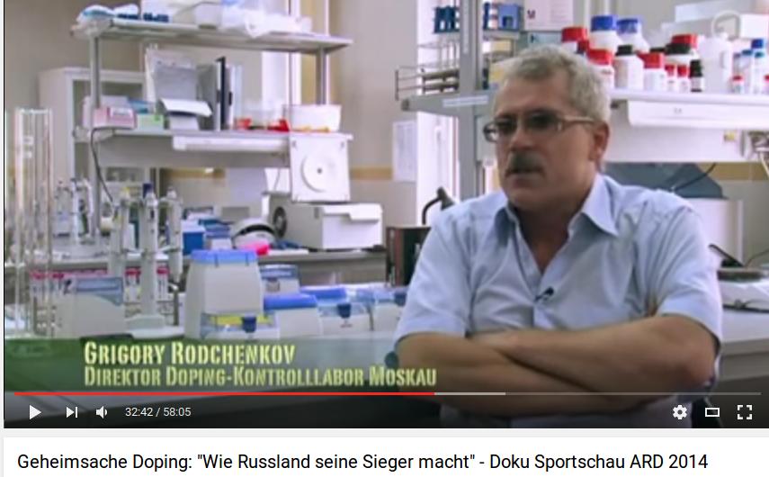 Grigorij Rodtjenkov mens han stadig var leder af det russiske antidopinglaboratorium og nægtede ethver delagtighed i doping. Foto: skærmbillede fra Youtube.