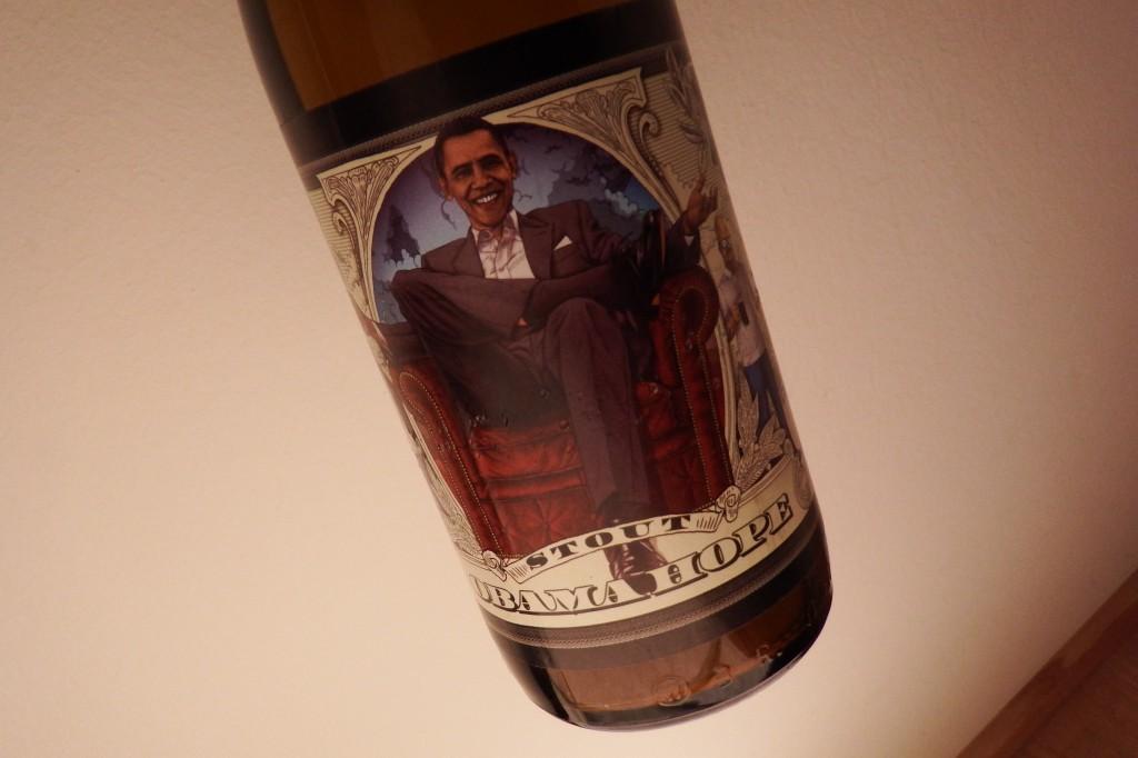 """Øllen """"Obama Hope"""" fra det Lviv-baserede bryggeri Pravda (sandheden). Foto: Anders Skærlund Petersen."""